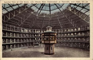 A real-life example (from a postcard) of a Panopticon.